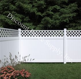 New Lexington Vinyl Privacy Fence with Lattice Accents