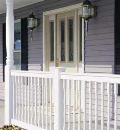 Colonial White Porch Post Columns