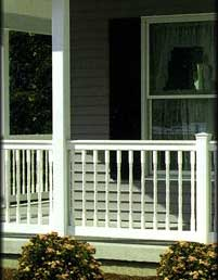 Square Vinyl Porch Posts