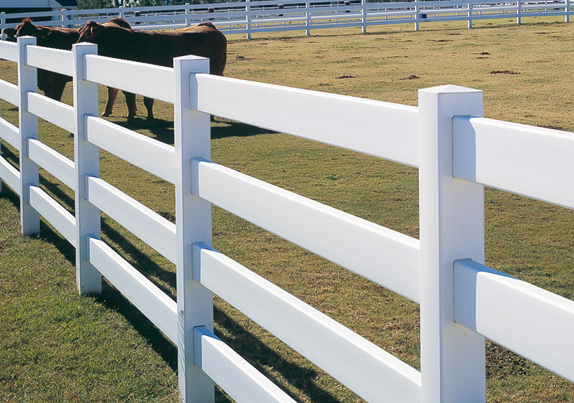 3 Rail Vinyl Horse Fences - Maintenance Free Vinyl Fencing