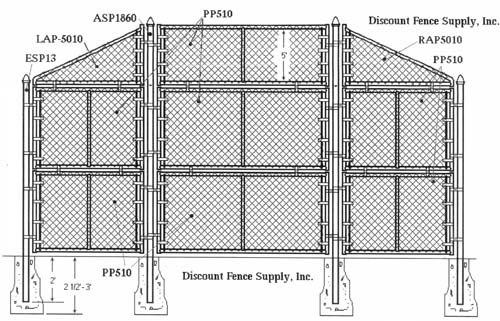 Panelized Baseball Backstop Kits By Discount Fence Supply
