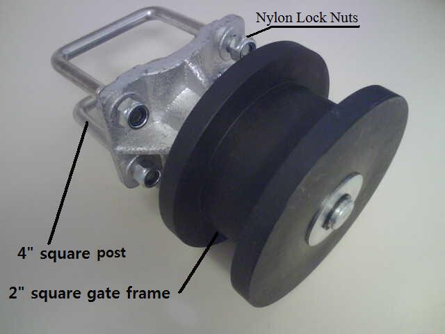 square nylon cantilever roller assembly